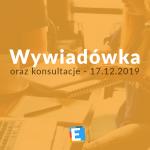Wywiadówka grudzień 2019 i konsultacje