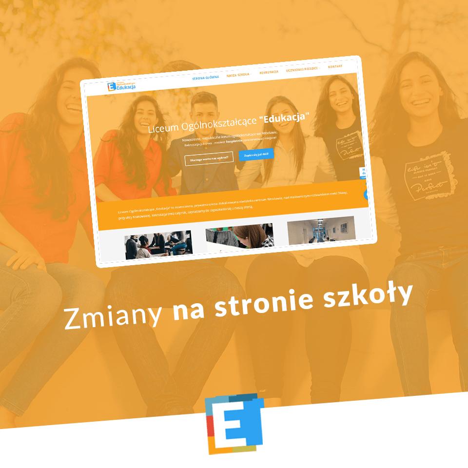 Zmiany na stronie internetowej i Facebooku - Liceum Edukacja Wrocław