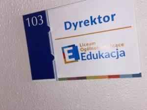 Biuro Dyrektora Liceum Edukacja