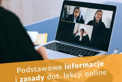 Zasady i informacje dot. lekcji online w liceum Edukacja