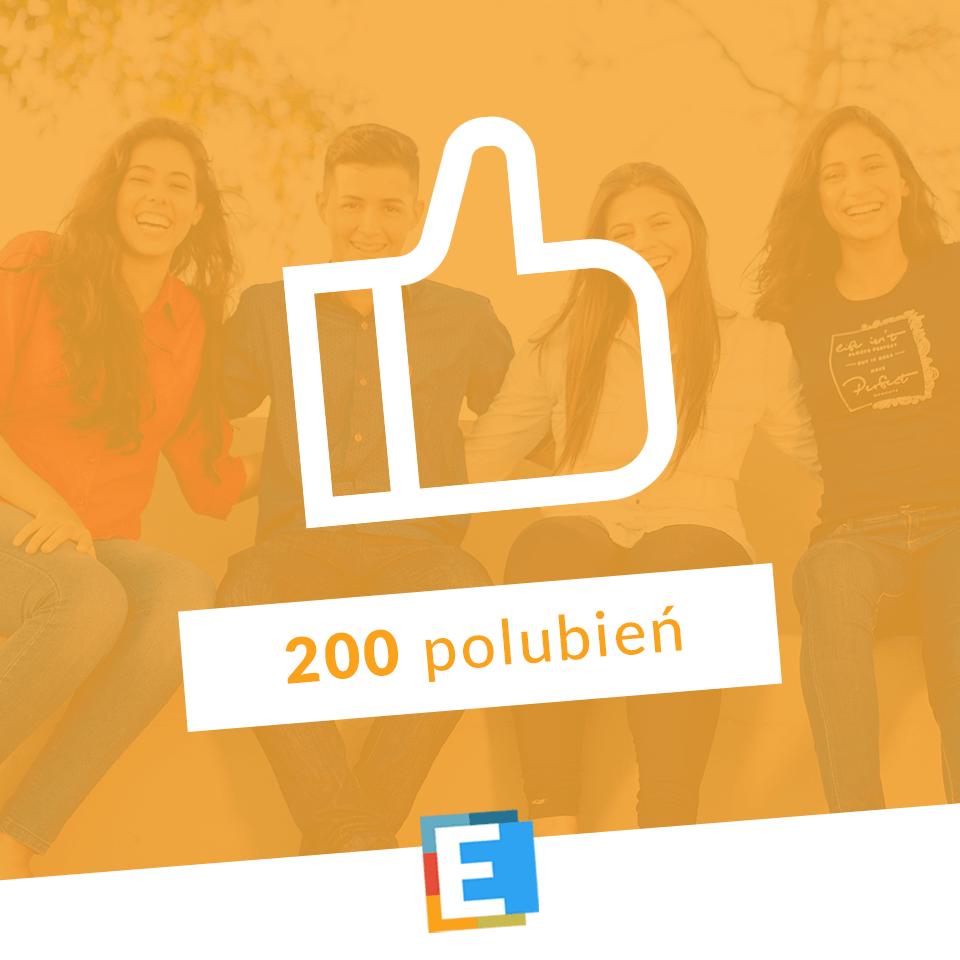 200 polubień na naszym Facebooku